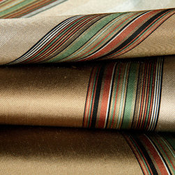 Dapper Stripe Upholstery Fabric in Pewter - Dapper Stripe Upholstery Fabric in Pewter & Multicolor Stripes. Designer Silk Blend ideal for reupholstering seats and benches, drapery, or pillows.