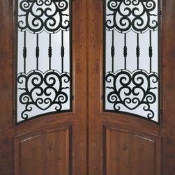 """Prehung Double Door 96 Wood Alder Barcelona Arch Top Arch Lite - SKU#E91662WBR-WE8ATDBRBrandGlassCraftDoor TypeExteriorManufacturer CollectionArch Top Double DoorDoor ModelBarcelonaDoor MaterialWoodWoodgrainKnotty AlderVeneerPrice5800Door Size Options  +$percentCore TypeDoor StyleArch TopDoor Lite StyleArch LiteDoor Panel StyleHome Style MatchingDoor ConstructionEstanciaPrehanging OptionsPrehungPrehung ConfigurationDouble DoorDoor Thickness (Inches)1.75Glass Thickness (Inches)Glass TypeDouble GlazedGlass CamingGlass FeaturesTemperedGlass StyleGlass TextureWater , Flemish , Baroque , Fluted , Rain , Glue Chip , ClearGlass ObscurityLight Obscurity , Moderate Obscurity , Highest Obscurity , No ObscurityDoor FeaturesDoor ApprovalsWind-load Rated , SFI , TCEQ , AMD , NFRC-IG , IRC , NFRC-Safety GlassDoor FinishesDoor AccessoriesWeight (lbs)719Crating Size25"""" (w)x 108"""" (l)x 52"""" (h)Lead TimeSlab Doors: 7 Business DaysPrehung:14 Business DaysPrefinished, PreHung:21 Business DaysWarrantyOne (1) year limited warranty for all unfinished wood doorsOne (1) year limited warranty for all factory?finished wood doors"""