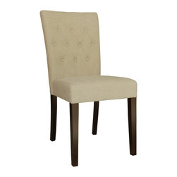 emma side chair in natural linen, set of 2 - !nspire