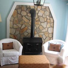 Eclectic Family Room by Lauren Liess Interiors