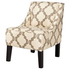 Swoop Upholstered Accent Chair - Luca Geometric ... : Target