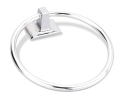 """Hardware Resources - Element Traditional Towel Ring"""" Towel Holder - Polished Chrome - Element is the premier manufacturer and importer of the finest decorative cabinet and furniture hardware. - Finish - Polished Chrome"""