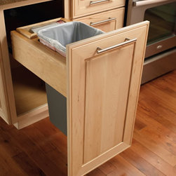Base Wastebasket Top Mount - Sturdy, one-handed operation, large-capacity system with bag-storage tray at the rear.
