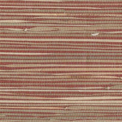 York Wallcovering - Natural River Grass Grasscloth Wallpaper - Red Natural River Grass Grasscloth Wallpaper. This is a double roll of 100% authentic, real grasscloth. Please be aware of the different measurements in grasscloth vs standard wallpaper. Match: Random, Please use a non-staining premixed adhesive to install. Pattern # NZ0785