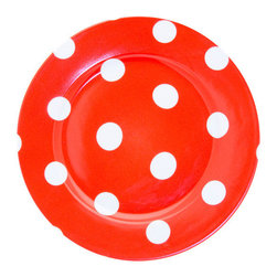 Sabre Paris - Sabre Paris Porcelain Polka Dot Dessert Plate, Rouge - Qualifies for free shipping and free returns. 100% Satisfaction Guaranteed.