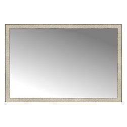 """Posters 2 Prints, LLC - 51"""" x 34"""" Libretto Antique Silver Custom Framed Mirror - 51"""" x 34"""" Custom Framed Mirror made by Posters 2 Prints. Standard glass with unrivaled selection of crafted mirror frames.  Protected with category II safety backing to keep glass fragments together should the mirror be accidentally broken.  Safe arrival guaranteed.  Made in the United States of America"""