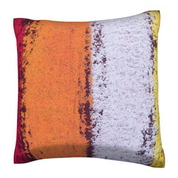Custom Photo Factory - Colorful Pastels Pillow.  Polyester Velour Throw Pillow - Colorful Pastels Pillow. 18 Inches x 18  Inches.  Made in Los Angeles, CA, Set includes: One (1) pillow. Pattern: Full color dye sublimation art print. Cover closure: Concealed zipper. Cover materials: 100-percent polyester velour. Fill materials: Non-allergenic 100-percent polyester. Pillow shape: Square. Dimensions: 18.45 inches wide x 18.45 inches long. Care instructions: Machine washable