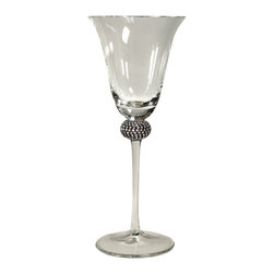 Alan Lee Collection - Princess Collection Classic Water, Wine Goblets - This 10 ounce water or wine goblet is sure to impress. Cut crystals are intricately hand applied to create a glittering and elegant effect.