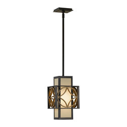 Murray Feiss - Murray Feiss Remy Mini Pendant Light Fixture in Parissiene Gold - Shown in picture: Remy Pendant - Mini in Heritage Bronze/Parissiene Gold finish with Bronze OrganzaFabric