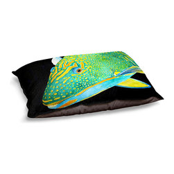 "DiaNoche Designs - Dog Pet Bed Fleece - Deep Sea Life- Parrot Fish - DiaNoche Designs works with artists from around the world to bring unique, designer products to decorate all aspects of your home.  Our artistic Pet Beds will be the talk of every guest to visit your home!  BARK! BARK! BARK!  MEOW...  Meow...  Reallly means, ""Hey everybody!  Look at my cool bed!""  Our Pet Beds are topped with a snuggly fuzzy coral fleece and a durable underside material.  Machine Wash upon arrival for maximum softness.  MADE IN THE USA."