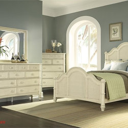 Liberty Furniture - Liberty Sunset Key II Poster Four Piece Chest Bedroom Set In Sea Oat - Tropical styling at its best with natural cane material creating an element of island living. Bamboo like posts give this group a true tropical design.