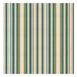 Teal & Green Stripe  Woven Fabric - Teal & green variated woven stripe that can be as traditional as it is trendy.Recover your chair. Upholster a wall. Create a framed piece of art. Sew your own home accent. Whatever your decorating project, Loom's gorgeous, designer fabrics by the yard are up to the challenge!