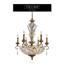 ELK Lighting - 12-Light Chandelier in a Spanish Bronze Finish - Senecal reflects European elegance with Spanish motifs and vibrant Egyptian crystal. The graceful ironwork, crystal spheres and Spanish bronze finish makes for a stunning collection.