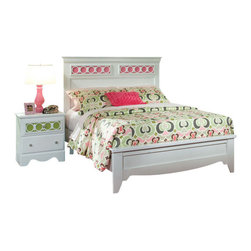 Standard Furniture - Standard Furniture My Room 2-Piece Panel Bedroom Set in White - My Room girls youth collection is sure to be every girls dream bedroom with its functional pieces, feminine style details, and versatile color scheme options.