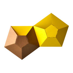 Ampersand - Wallpockets Storage, Yellow, Set of 2 - Inspired by clusters of barnacles, Wallpockets create a textural kaleidoscope for an underutilized space. Their tabbed construction requires no hardware or adhesives and creates a pocket for your favorite things. Delivered in packs of two, Wallpockets are found making happy homes in apartments, bedrooms, nurseries, craft rooms, studios, playrooms, and classrooms. Manufactured in Cincinnati, OH from recycled corrugated cardboard and packaged by the Clovernook Center for the Blind. List price is for pack of two Wallpockets.