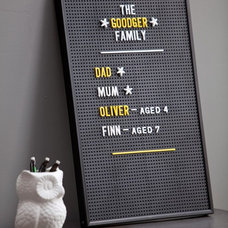 modern bulletin board by Rose & Grey
