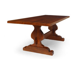 None - South Cone Spanish Mahogany Table Dining Table - This elegant mahogany dining table will add style and sophistication to your daily family meals. Designed by South Cone, this table has a solid wood construction for durability, and it has a mahogany finish to coordinate with many modern furnishings.