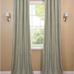 EFF - Teal and Natural Hand-woven Cotton Curtain Panel - The teal and natural hand-woven cotton curtain panel and drapes add a casual and warm look to any window. These drapes are tailored from the finest hand loomed cotton blend.