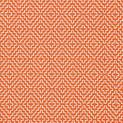 Soho Weave Fabric - I love the subtle pattern of this orange Schumacher fabric.