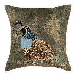Rizzy Home - Rizzy Home Poly Velvet Bird Decorative Throw Pillow Multicolor - T05564 - Shop for Pillowcases and Shams from Hayneedle.com! Nature comes home to roost with the Rizzy Home Poly Velvet Bird Decorative Throw Pillow. A charming way to accent your sofa this decorative throw pillow is made with a polyester velvet cover decorated with an intricate and colorful partridge applique with embroidery details. A hidden zipper and removable insert complete the design. Dry clean only.About Rizzy HomeRizwan Ansari and his brother Shamsu come from a family of rug artisans in India. Their design color and production skills have been passed from generation to generation. Known for meticulously crafted handmade wool rugs and quality textiles the Ansari family has built a flourishing home-fashion business from state-of-the-art facilities in India. In 2007 they established a rug-and-textiles distribution center in Calhoun Georgia. With more than 100 000 square feet of warehouse space the U.S. facility allows the company to further build on its reputation for excellence artistry and innovation. Their products include a wide selection of handmade and machine-made rugs as well as designer bed linens duvet sets quilts decorative pillows table linens and more. The family business prides itself on outstanding customer service a variety of price points and an array of designs and weaving techniques.
