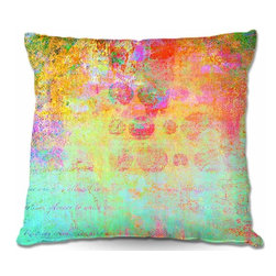 DiaNoche Designs - Pillow Woven Poplin - Hybrid Ocean - Toss this decorative pillow on any bed, sofa or chair, and add personality to your chic and stylish decor. Lay your head against your new art and relax! Made of woven Poly-Poplin.  Includes a cushy supportive pillow insert, zipped inside. Dye Sublimation printing adheres the ink to the material for long life and durability. Double Sided Print, Machine Washable, Product may vary slightly from image.