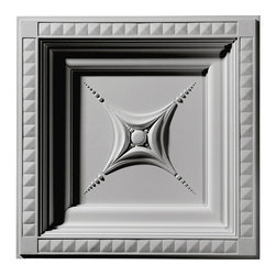 "Ekena Millwork - 24""W x 24""H x 2 7/8""P Star Ceiling Tile - Ceiling tiles are a unique way to add beauty to your home.  Several of our ceiling tiles are modeled after coffered ceiling designs, which allows you to get that coffered ceiling look without all the miter cuts typically required.  Rich details give deep shadow lines and an ornate look typically only found with wood products."