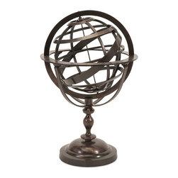 "Imax - Alexander Metal Globe - *Dimensions: 29""h x 18.5""w x 19"""
