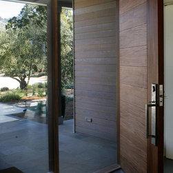 Calistoga Home - Custom Entry Door. wood species: Afromsia