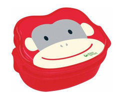 Green Sprouts - Green Sprouts Safari Bento Box in Red Monkey - You don't need a barrel of monkeys to enjoy lunch. This fun bento box with an adorable monkey on it makes packing your child's meal a breeze. With three compartments separating the food and an easy to open lid, the endearing lunch box is perfect for preschool, kindergarten or daycare.