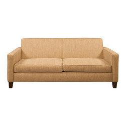 Lazar Industries - Rupert Full Sleeper Sofa in Socorro Oatmeal - Rupert Full Sleeper Sofa by Lazar Industries offers transitional elegance in a midcentury modern package, replete with slim track arms and welted detail.