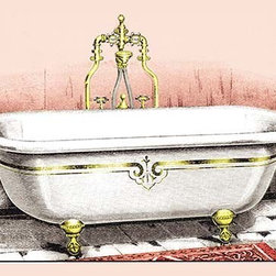 "Buyenlarge.com, Inc. - Ornate Bathtub- Fine Art Giclee Print 16"" x 24"" - Another high quality vintage art reproduction by Buyenlarge. One of many rare and wonderful images brought forward in time. I hope they bring you pleasure each and every time you look at them."