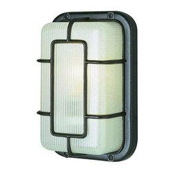 Trans Globe Lighting - Trans Globe Lighting 41101 BK Outdoor Bulkhead Light In Black - Part Number: 41101 BK