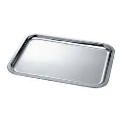 Alessi - Alessi Rectangular Tray - Clean and classy, this stainless steel rectangular tray will bring elegance to your kitchen organization. You can use it in your drawers, on your counter, or even as a serving tray — this mirror polished tray with raised edges will do it all.