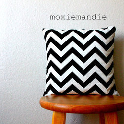 Black and White Chevron Stripe Pillow Cover by Moxie Mandie - This adorable Etsy shop offers fabulous chevron-print cushions for those of you as chevron-obsessed as I am. I really want one or two of these, and at under $30, it wouldn't break the bank.