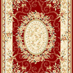 Safavieh - Lyndhurst Red Rectangular: 5 Ft. x 7 Ft. Rug - - Safavieh's Lyndhurst collection offers the beauty and painstaking detail of traditional Persian and European styles with the ease of polypropylene. With a symphony of florals, vines and latticework detailing, these beautiful rugs bring warmth and life to the room of your choice.  - Please note this item has a 30-day manufacturer's limited warranty that covers product defects. Inspect your purchase upon delivery & notify us immediately with any concerns. Safavieh - LNH328C-5
