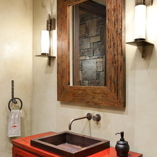 Contemporary Powder Room by Native Trails