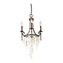 Murray Feiss - Heritage Bronze Cascade 3 Light Mini Chandelier - Lamping Technologies: