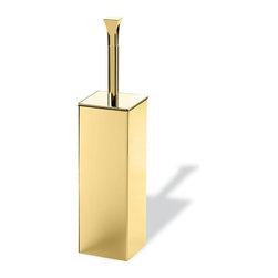 StilHaus - Classic-Style Brass Toilet Brush Holder, Gold - Brass toilet brush holder.