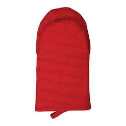MU Kitchen Silicone Grip Oven Mitt Pepper Red - Protect your hands and tighten your grip with the new MU Kitchen Silicone Oven Mitt.  The contact area features 100% silicone in a fashionable MUGrip pattern while the outside is 100% quilted solid cotton with a soft terry lining.Product Features                      Terry lining          Sure grip silicone          100% quilted cotton construction