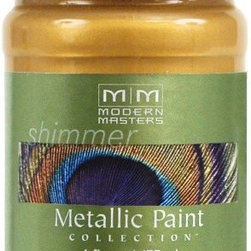 Modern Masters ME658-06 Metallic Gold Rush Paint - Metallic colors, especially copper and gold, are hot in home decor these days. I've been looking for a great metallic paint, and this is it. I've used it on furniture, a mirror frame, lamps and even fabric.