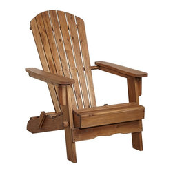 "Lamps Plus - Coastal Monterey Natural Wood Adirondack Chair - Classic design wood chair for outdoor use. Natural finish. Acacia wood construction. 37 1/2"" high. 27 1/2"" wide. 35"" deep.  Classic design wood chair for outdoor use.   Natural finish.   Acacia wood construction.  37 1/2"" high.   27 1/2"" wide.   35"" deep."