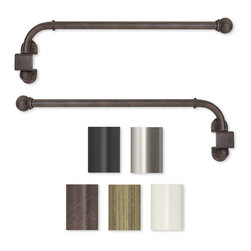None - Swing Arm 24 to 38-inch Adjustable Curtain Rod - Add elegance and functionality to your windows with this metal adjustable curtain rod,available in many color options. The curtain rods are easy to mount and the swing arm feature allows you to easily open curtains without dragging the rod.