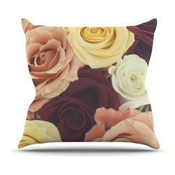 "Kess InHouse - Libertad Leal ""Vintage Roses"" Throw Pillow (Outdoor, 20"" x 20"") - Decorate your backyard, patio or even take it on a picnic with the Kess Inhouse outdoor throw pillow! Complete your backyard by adding unique artwork, patterns, illustrations and colors! Be the envy of your neighbors and friends with this long lasting outdoor artistic and innovative pillow. These pillows are printed on both sides for added pizzazz!"