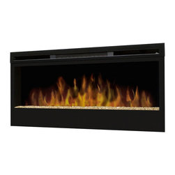 Dimplex - Dimplex Synergy Wall-mount in Black - Dimplex - Fireplace Accessories - BLF50 - The Synergy Wall-mount has a flame bed which is made from glass pieces that are colored and silvered on one side allowing for light to shine and reflect off the glass pieces creating an effect that is as alluring as it is contemporary. Includes 3-stage remote control.