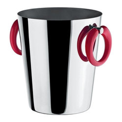 Alessi - Alessi Moon Bar Ice Bucket - Bottle service just got better. Your vino will chill in style in this stylish bucket made of stainless steel. Thermoplastic resin handles remain at a neutral temperature so your hands won't freeze.