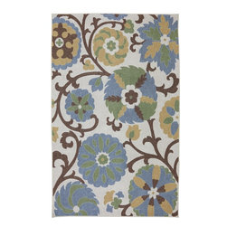 "American Rug Craftsmen - Concord Eliza Cream Floral 3'4"" x 5' American Rug Craftsmen (11793) - Our Concord Collection is reminiscent of the global tradition of hand hooked craftsmanship. The collection features a textured feel that reflects its historical inspiration. Bold colors and fashionable designs set this group of rugs apart. Printed on the same machines that manufacture one of the world"