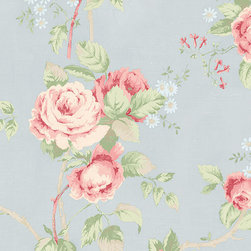 Large Scale Rose in Blue and Pink - CG28815 - Collection:Rose Garden