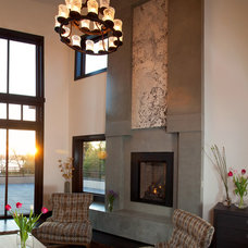 Contemporary Indoor Fireplaces by VC Studio Inc.