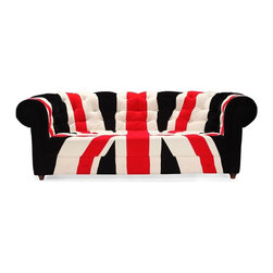 Zuo Modern - Zuo Modern Union Jack Modern Sofa X-462009 - Stay patriotic with our Union Jack series. Made from a plush microfiber and tufted for a classic look. Comes in an armchair, loveseat, sofa and ottoman.