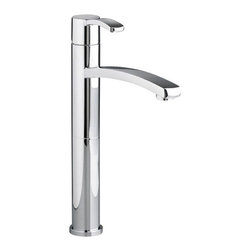 American Standard - Berwick Single Control Vessel Bathroom Faucet Less Drain in Polished Chrome - American Standard 7430.151.002 Berwick Single Control Vessel Bathroom Faucet Less Drain in Polished Chrome.